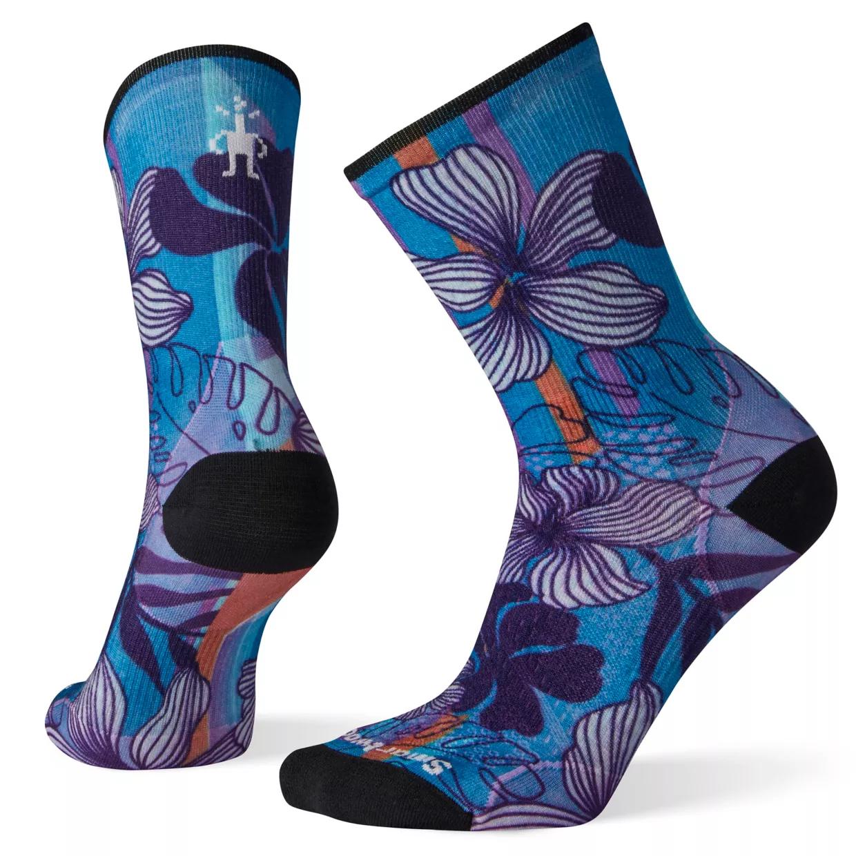 SMARTWOOL Smartwool Women's PhD Cycle Ultra Light Print Crew Socks