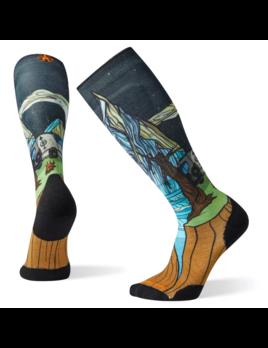 SMARTWOOL Smartwool Men's PhD Ski Light Elite Benchetler Print Socks