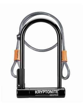 Kryptonite Kryptonite Keeper 12 Standard U Lock with 4' Flex Cable