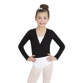 CAPEZIO WRAP TOP - GIRLS