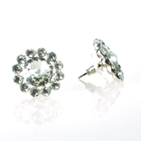 FH2 FH2 - Crystal Pierced Flower Earrings