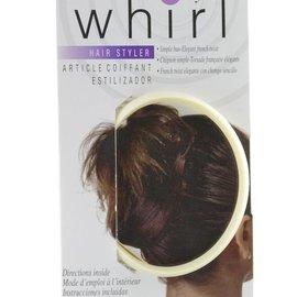 WHIRL-A-STYLE Whirl-a-Style Bun Maker, Cream, LRG