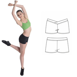 BLOCH ADULTS V-FRONT SHORT