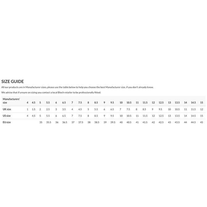 BLOCH APEX SNEAKER Size 6.5