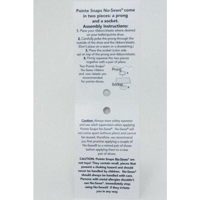 POINTE SNAPS No-Sews 12ct Bag - PINK