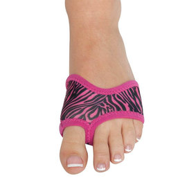 DANSHUZ Small, HALF SOLE, ZEBRA BLACK/PINK