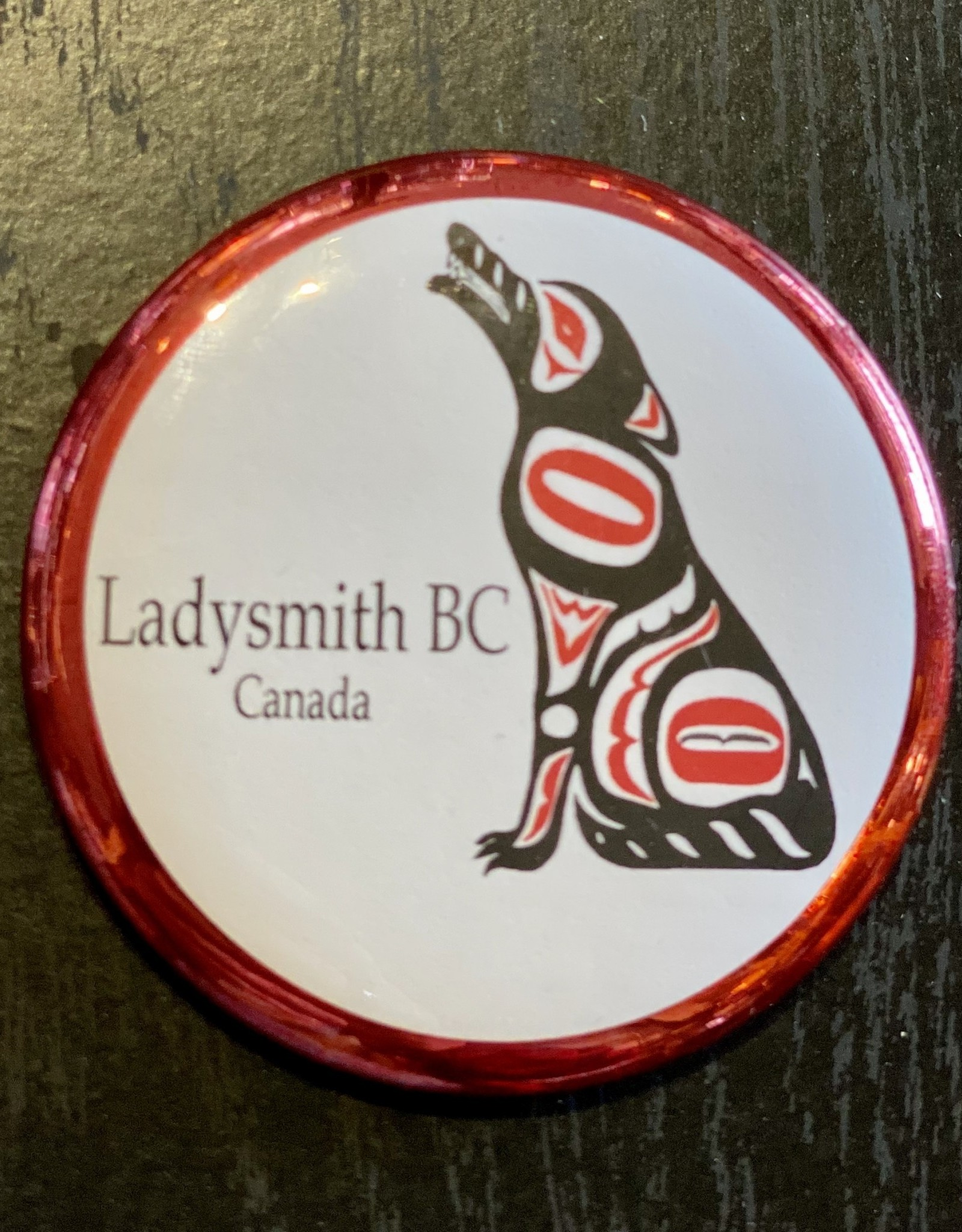 Ladysmith Wolf Magnet (Red)