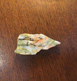 Purple Pigeon Treasures Painted Bird on Rock Magnet