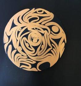 "Aboriginal - Native Round Canvas Painting  (10"")"