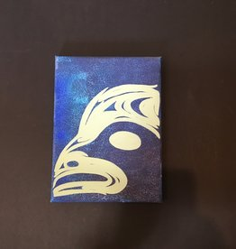 """Native Canvas Painting (9"""")"""