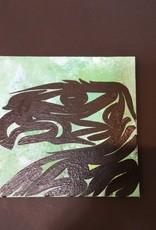 """Purple Pigeon Treasures Native Eagle  Canvas Painting (6"""")"""