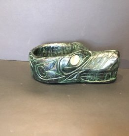 Native Carving  Wolf Bowl (9inch Long)