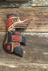 Purple Pigeon Treasures Native Bear Carving w/ abalone eye (8inch tall)