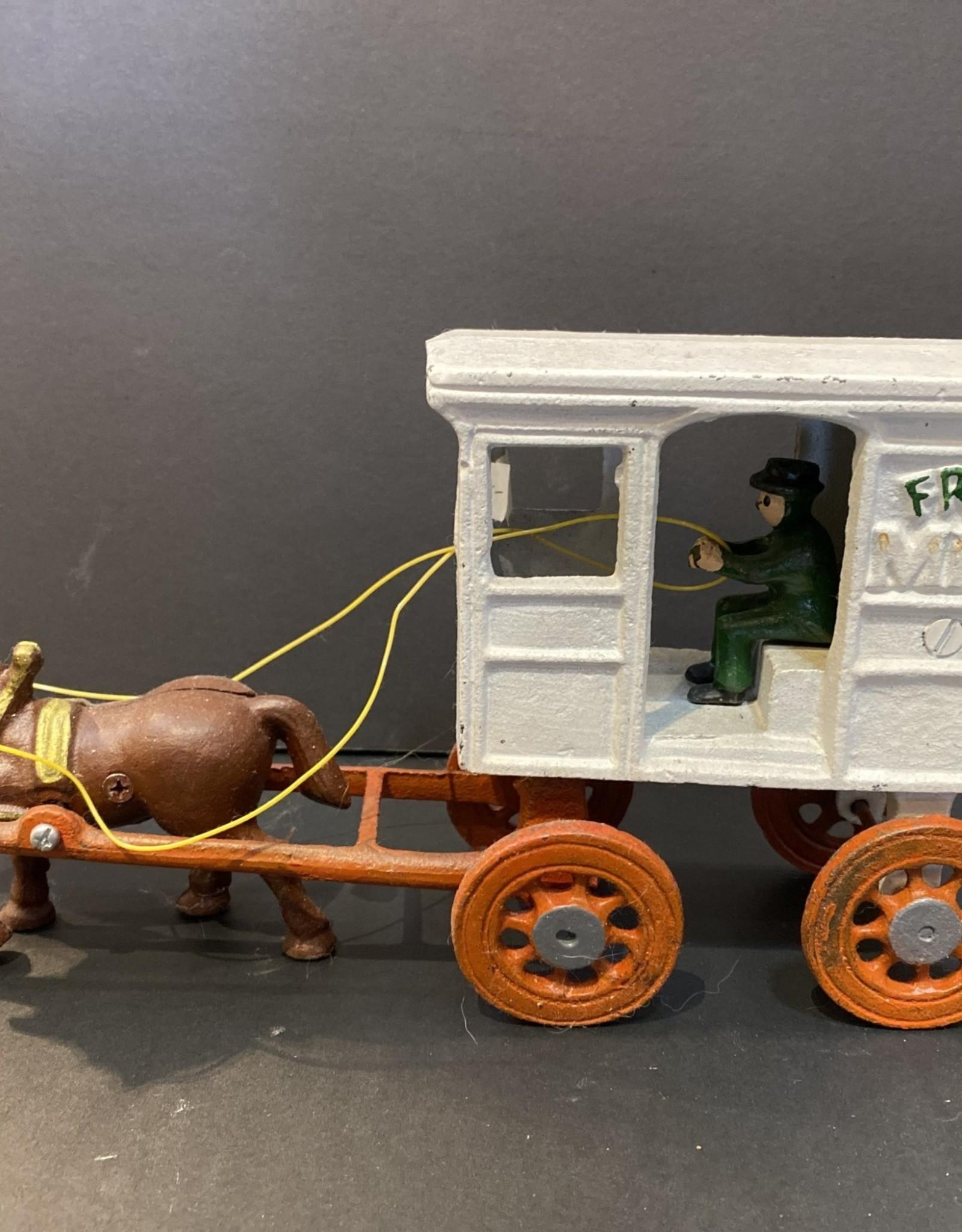 Purple Pigeon Treasures Cast Iron Toy Milk wagon