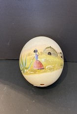 Painted ostrich egg (5.5inch tall)