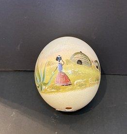 Purple Pigeon Treasures Painted ostrich egg (5.5inch tall)