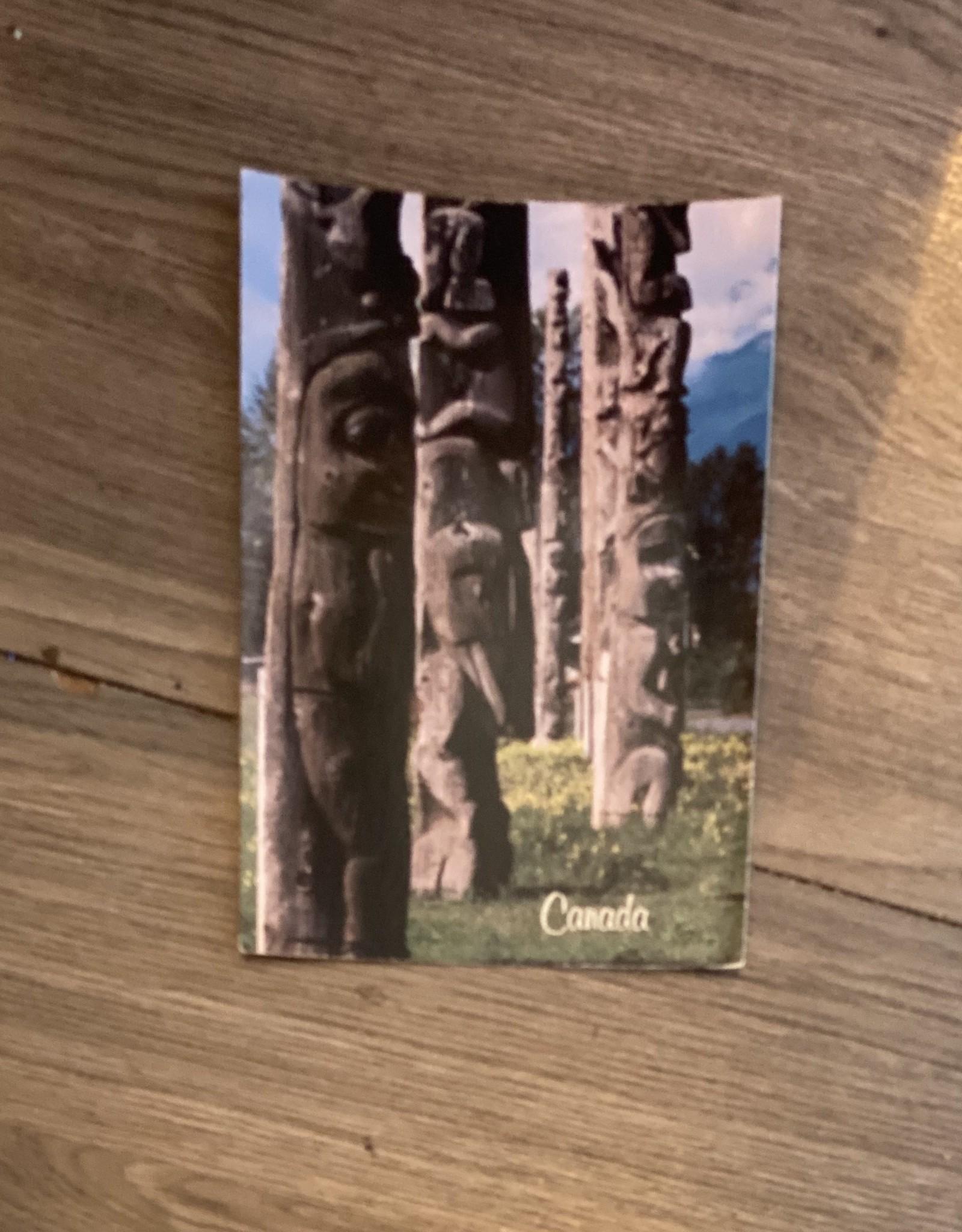 Purple Pigeon Treasures Post Card - Totem Poles