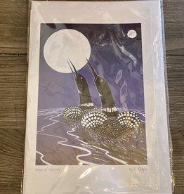 Purple Pigeon Treasures Card - Songs of Solitude