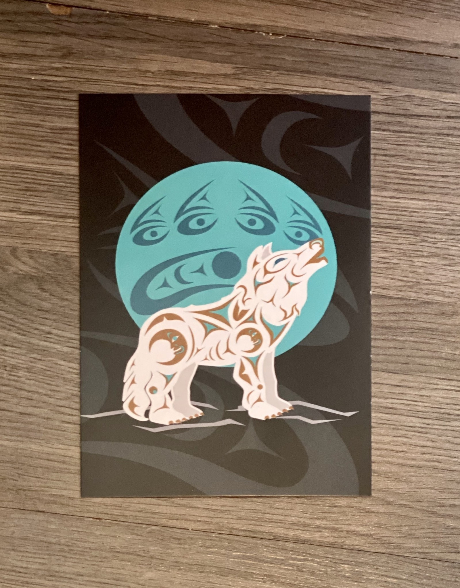 Post Card - Howling Wolf