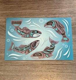 Purple Pigeon Treasures Post Card - Scared Salmon