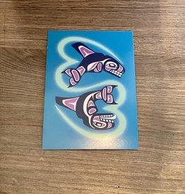 Purple Pigeon Treasures Post Card - Whales