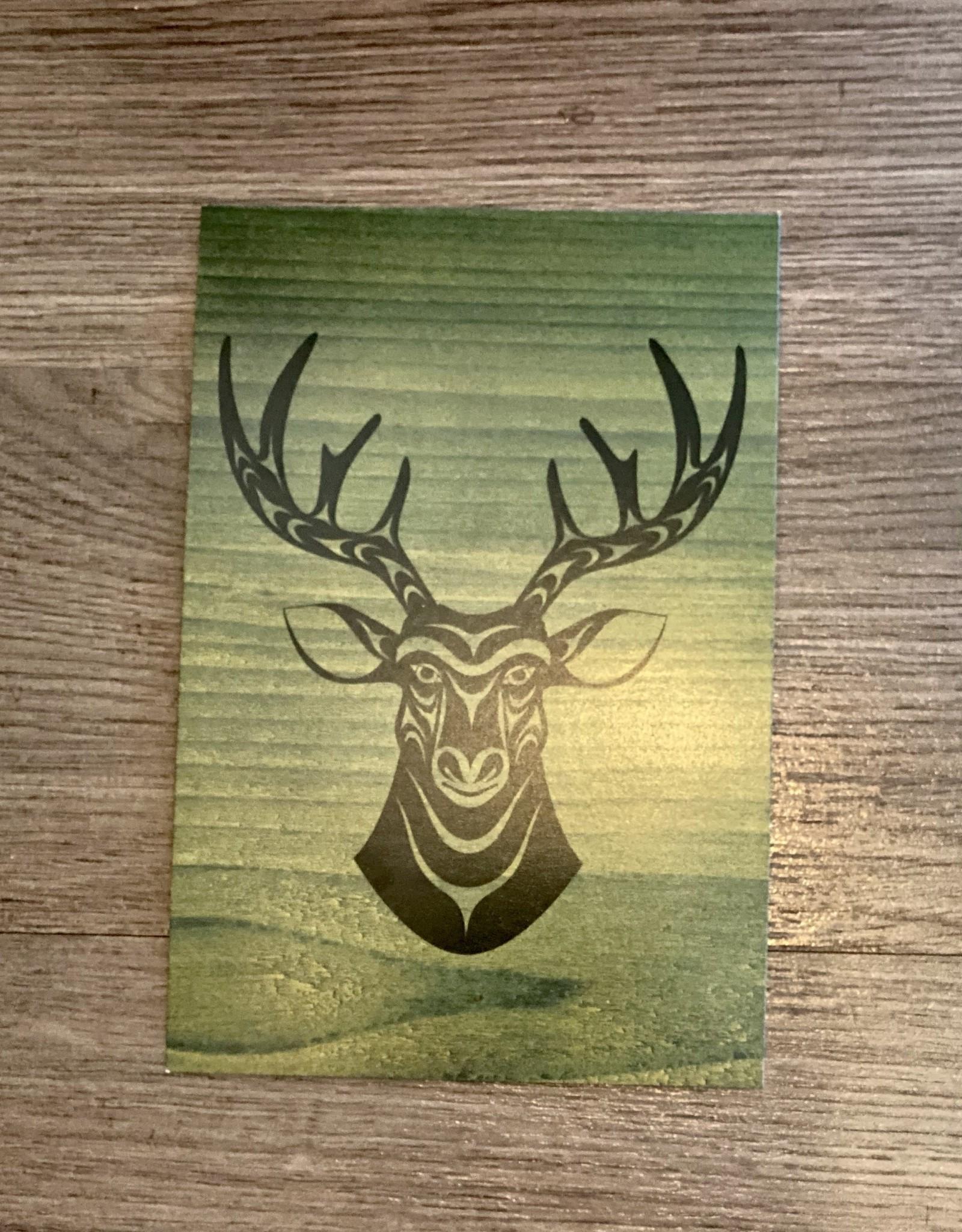 Purple Pigeon Treasures Post Card - Deer
