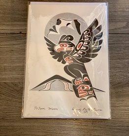 Purple Pigeon Treasures Card - Totem Moon