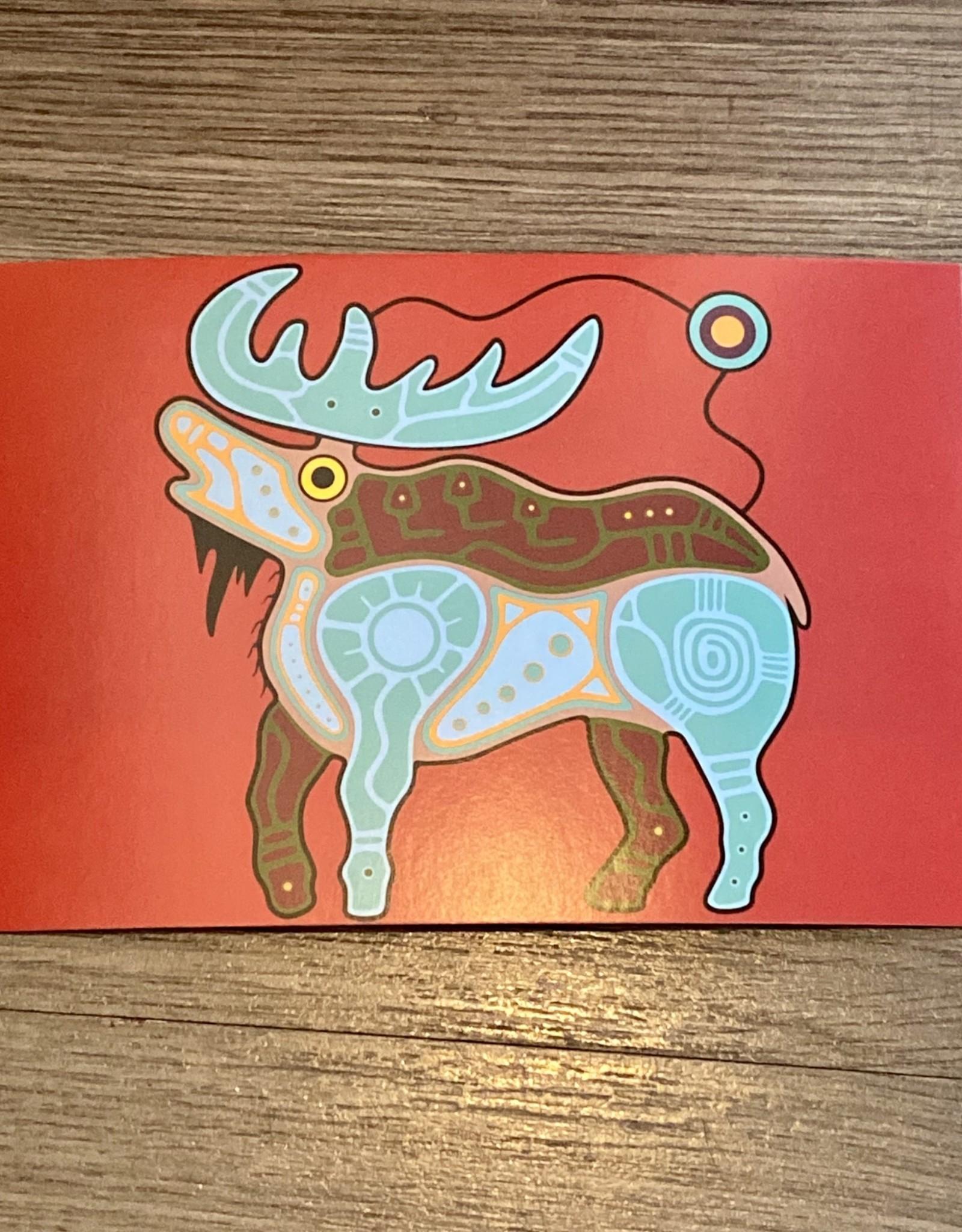 Purple Pigeon Treasures Post Card - Moose