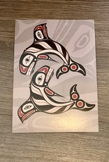 Post Card - Raven Fin Killer Whale