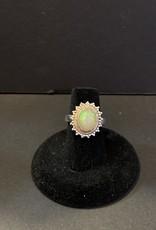 Purple Pigeon Treasures Opal Ring .925 Size 7