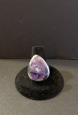 Raw Amethyst Ring .925    Size 10.5