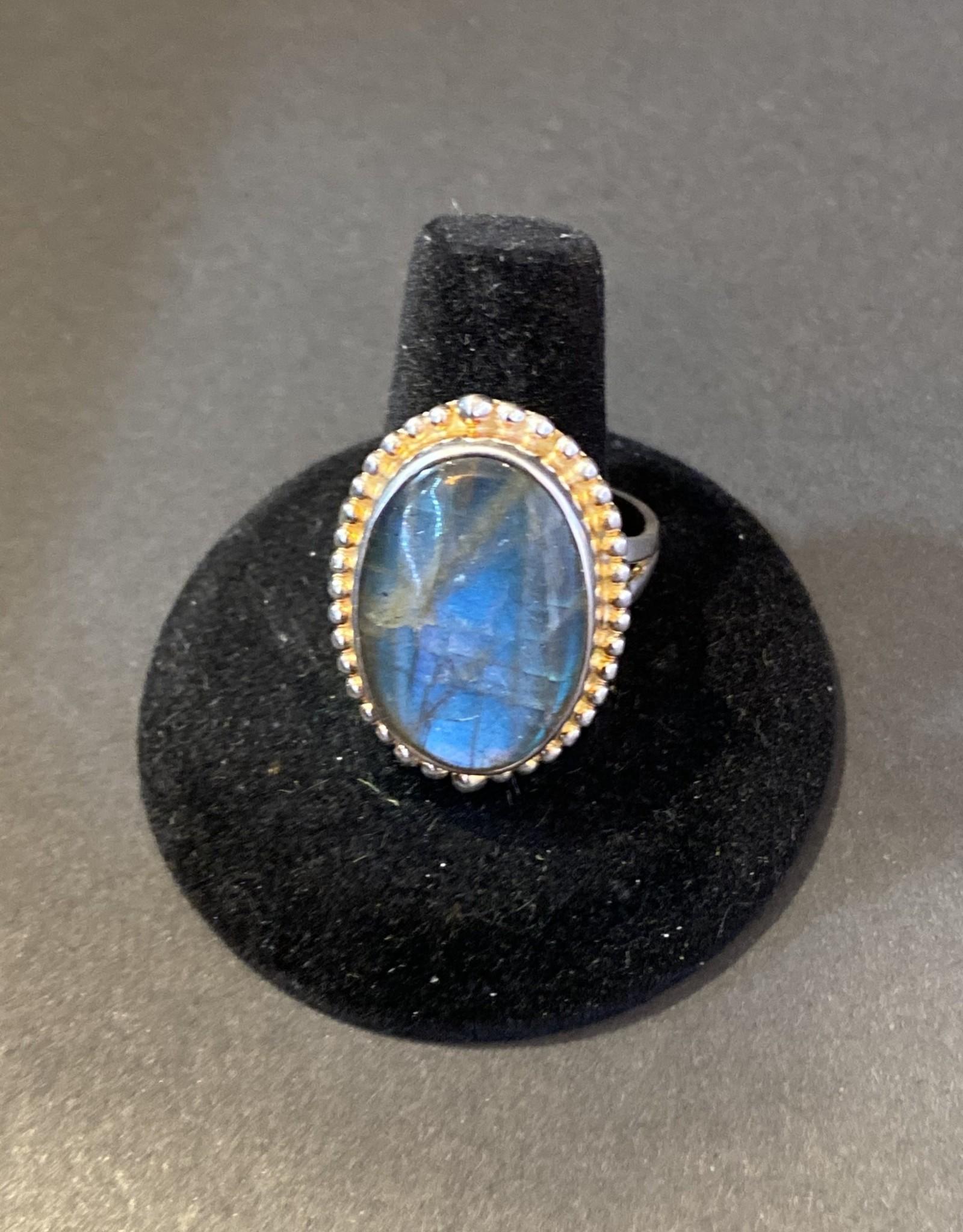 Labradorite Ring   .925   Sz11