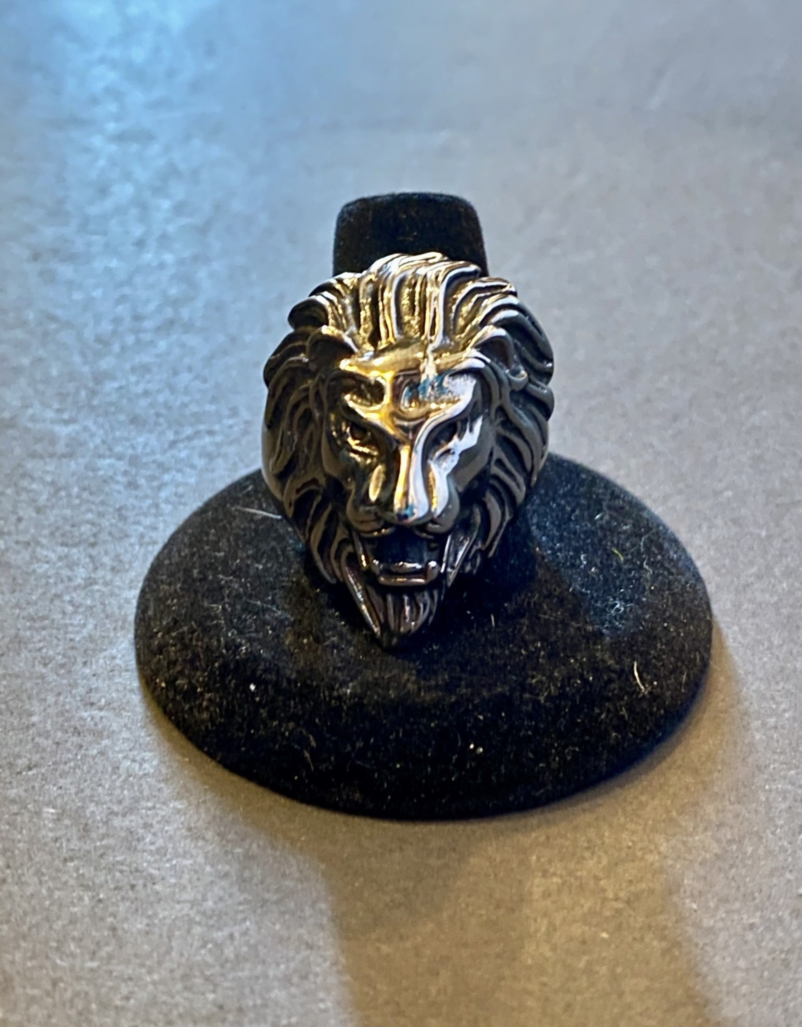 Lion Ring   Stainless Steel   Size12