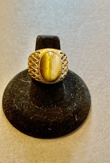 Purple Pigeon Treasures Gold Plated Ring   Size 7.5