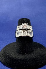 Jewelry - Set Cubic Zirconia 14k White Gold Size: 6 (Sold Separately)
