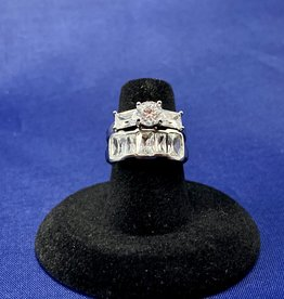 Set Cubic Zirconia 14k White Gold Size: 6 (Sold Separately)