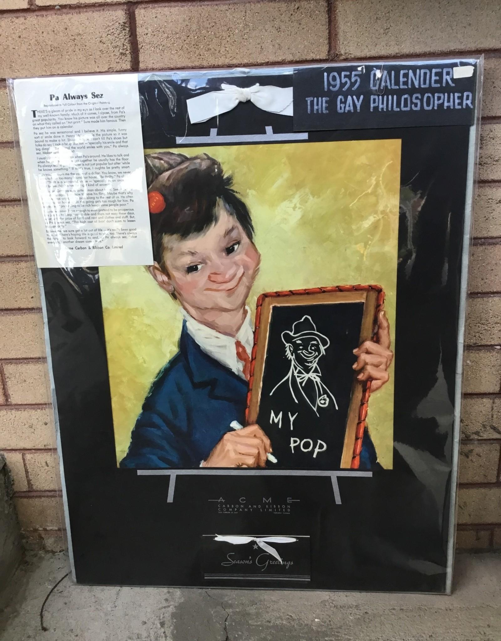 Purple Pigeon Treasures Pa Always Sez - 1955 Calender The Gay Philosopher