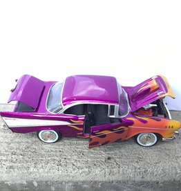 Purple 1957 Chevy Bel Air