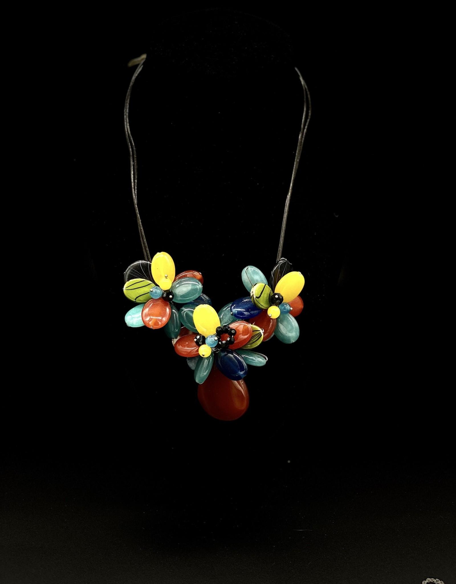 Hand made Multi Colour Glass Flower