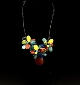 Jewelry - Hand made Multi Colour Glass Flower