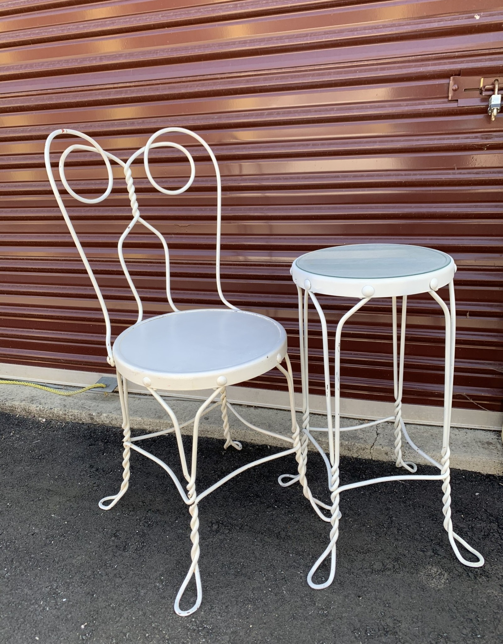 Purple Pigeon Treasures Rod iron Table and Chair