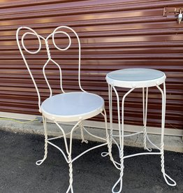 Rod iron Table and Chair