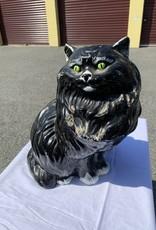Purple Pigeon Treasures Cement Black Cat