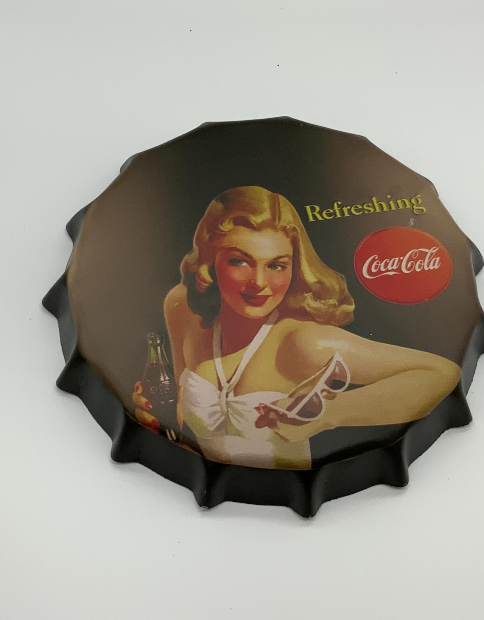 Coke Bottle Cap Sign