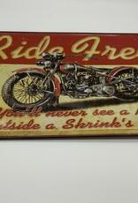 Ride Free Motorcycle Sign