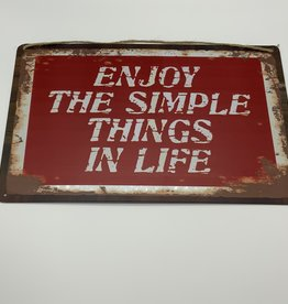 Enjoy the Simple Things in Live Sign