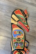 Large 4' Native Totem Carving