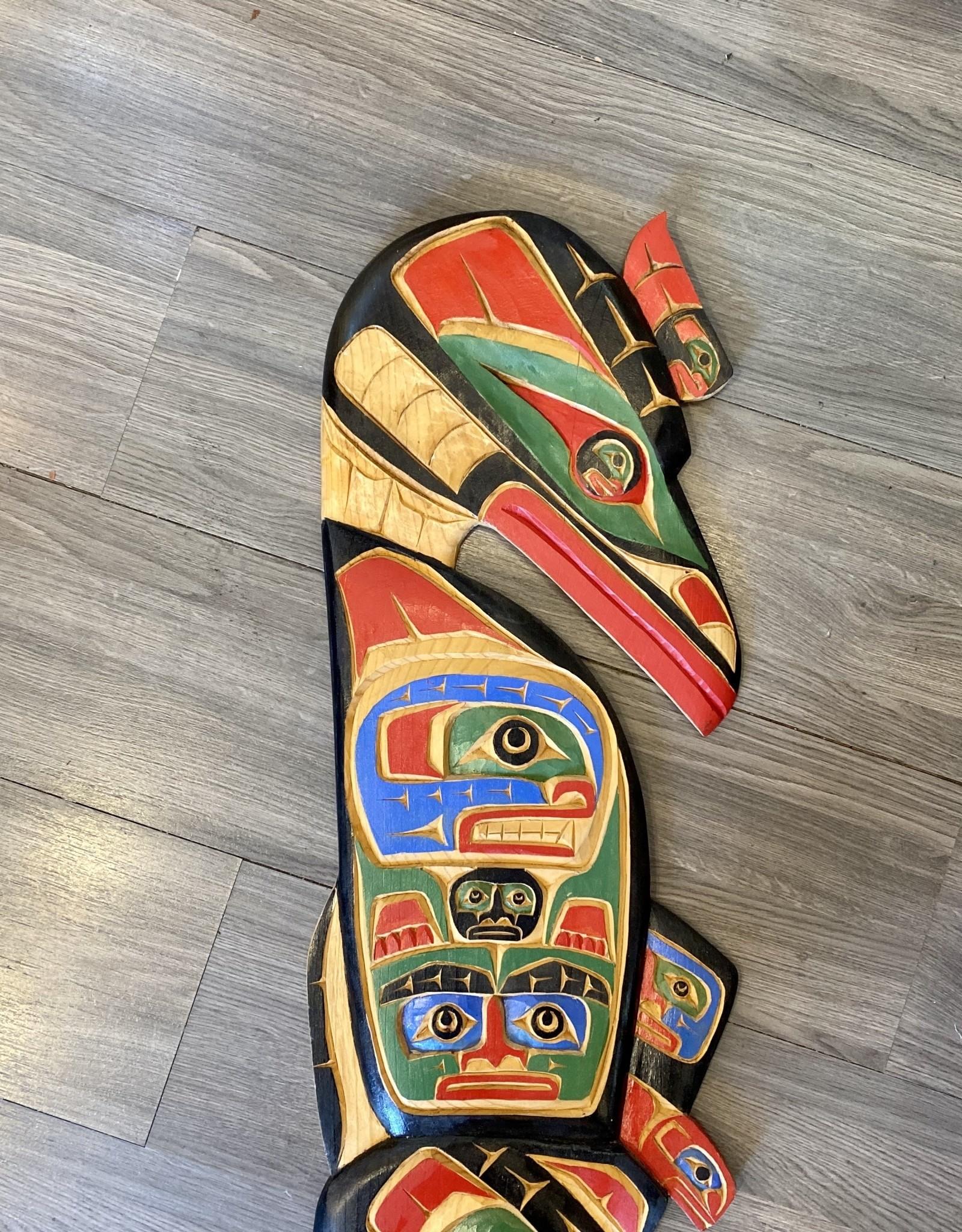Aboriginal - Large 4' Native Totem Carving