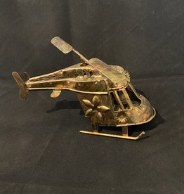Purple Pigeon Treasures Brass Helicopter music box