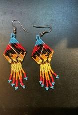 Purple Pigeon Treasures Native Beadwork Earrings